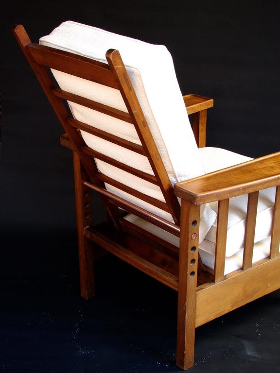 reclining club chair girls desk chairs 1930s arts and crafts william morris mahogany lounge for sale at 1stdibs