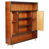 Mid-Century Modern Bookcase Cabinet Cherry Wood by ...