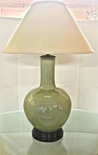 Beautiful Large Marbro Chinese Celadon Lamp For Sale at ...