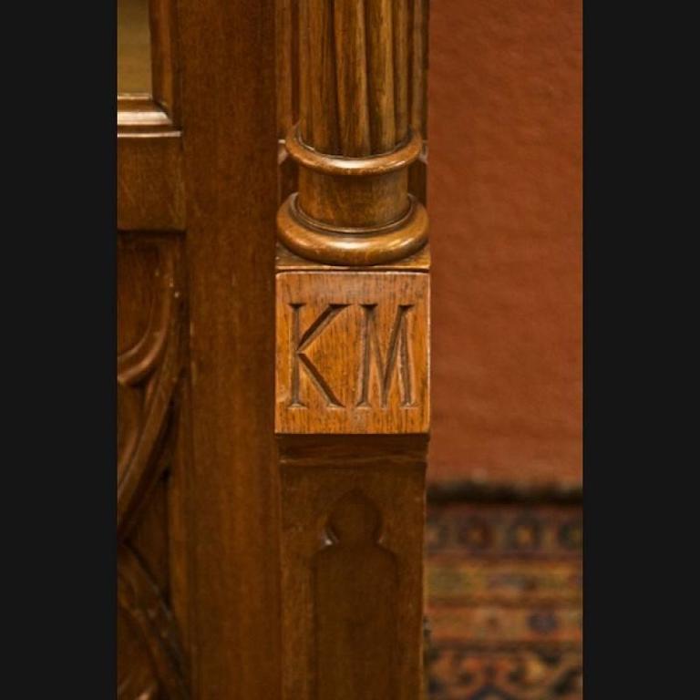 Mid 19th Century Historicism Style Neo Gothic Oak Bookcase