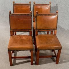 Antique Ladder Back Chairs Uk Diy Toddler Table And Wood Oak Leather Set Four Dining Kitchen Comfy Quality At 1stdibs