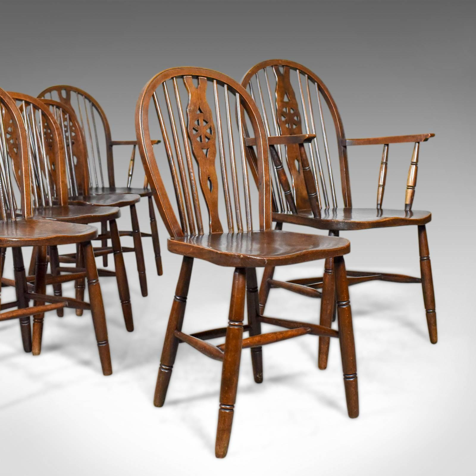 windsor kitchen chairs graco baby high chair set of six antique dining english hoop back this is a wheelbacks in