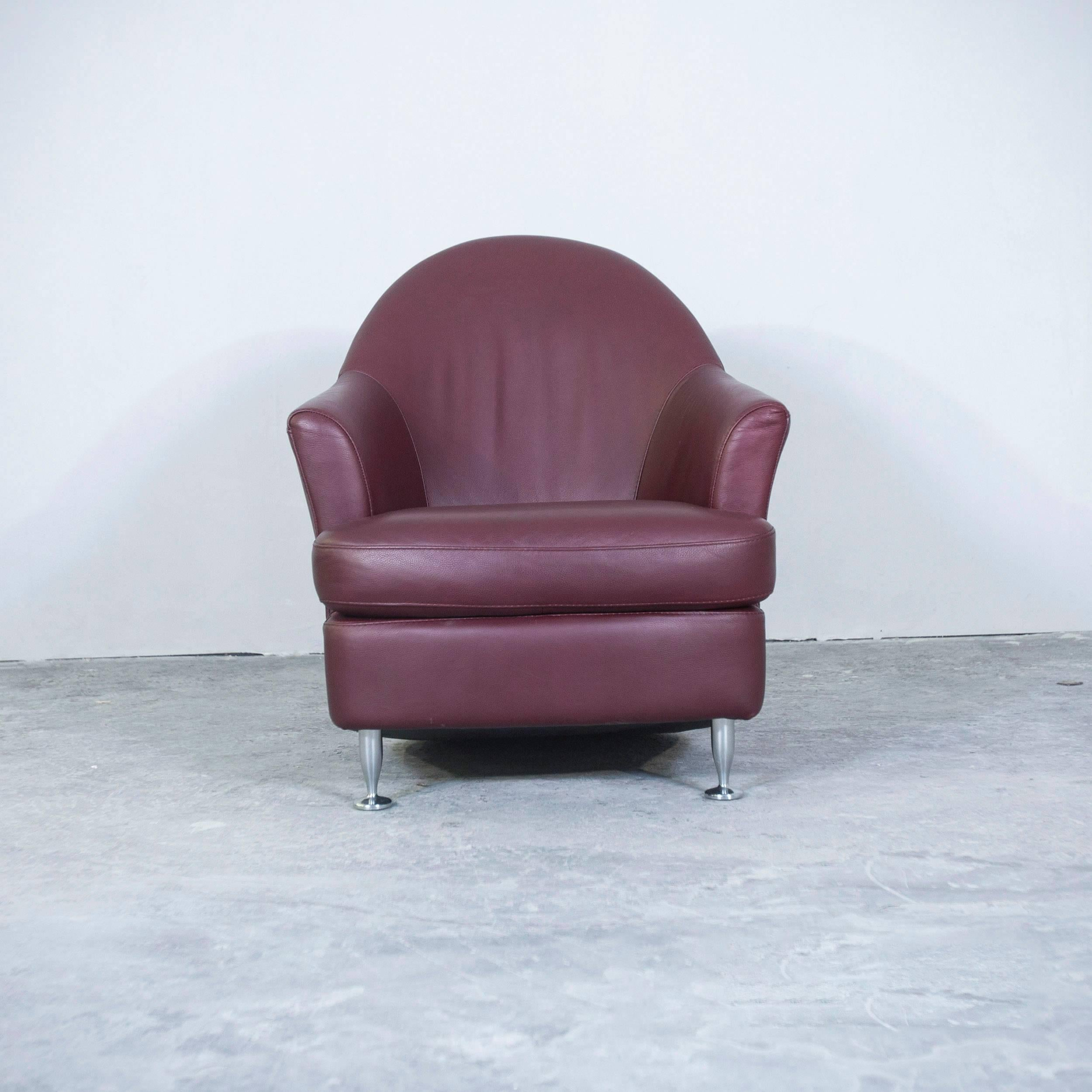 natuzzi revive chair office big and tall designer leather armchair red modern at 1stdibs
