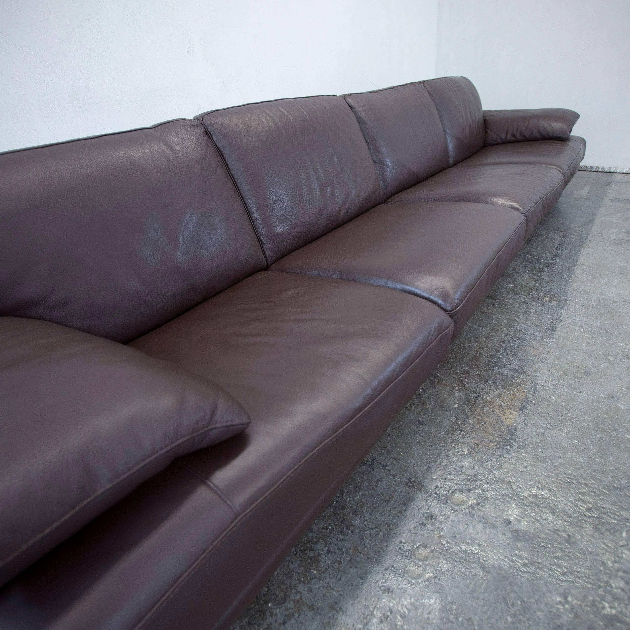 sofa braun leder elegant gallery of willi schillig loop eck sofa braun leder with braun leder. Black Bedroom Furniture Sets. Home Design Ideas