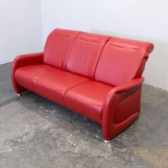 Leather Red Sofa Garden Cover Ewald Schillig Designer Three Seat Couch Modern At Contemporary For Sale