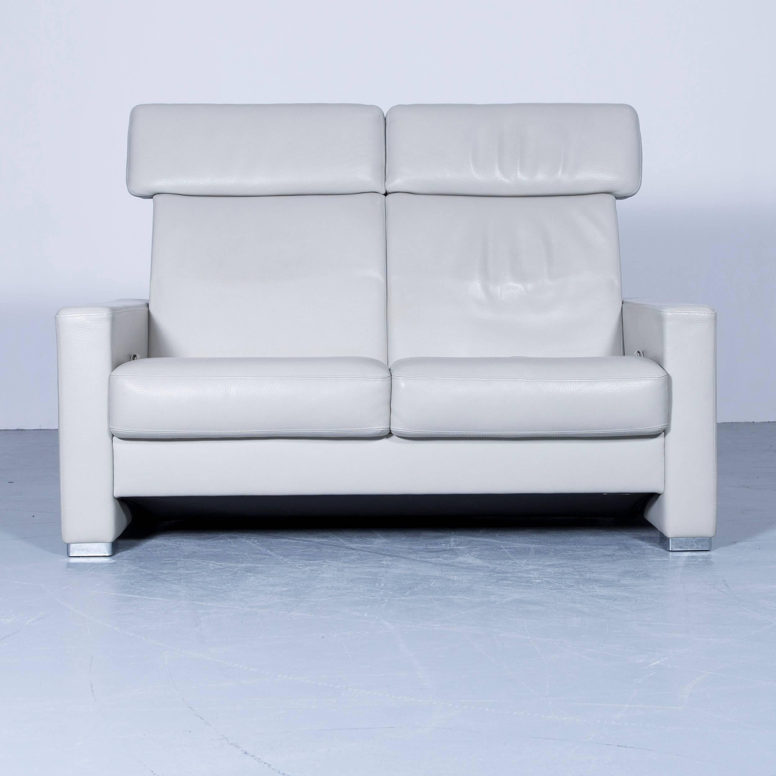Brühl and Sippold Designer Leather Sofa Crème Beige ...