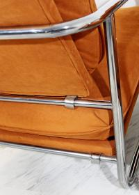 Mid-Century Modern Pair of Tubular Chrome Lounge Chairs ...