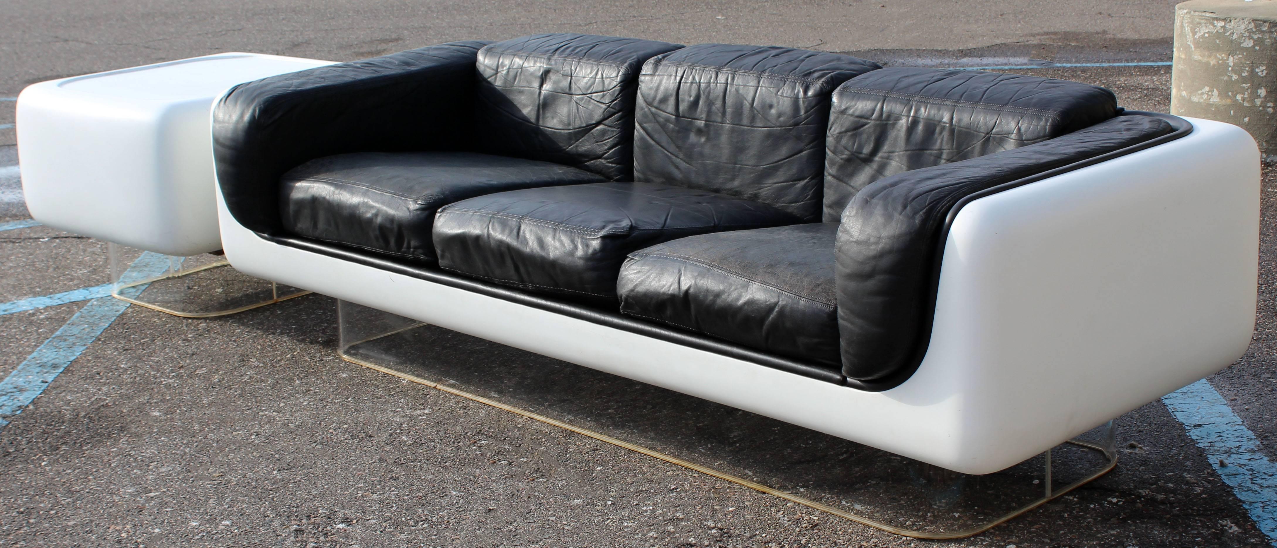 steelcase sofa platner sofas in seattle mid century modern warren style fiberglass lucite table for sale 2