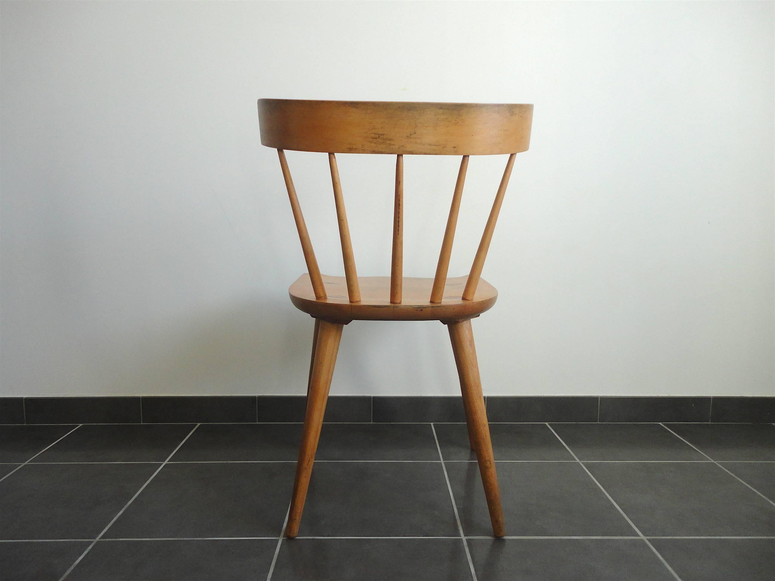 Paul Mccobb Chairs Spindle Back Planner Group Chair By Paul Mccobb For Winchendon 1950s