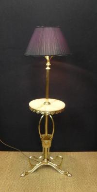 Art Nouveau Polished Brass Floor Lamp For Sale at 1stdibs