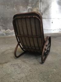 Italian Mid-Century Modern Bamboo Chair with Cushion from ...