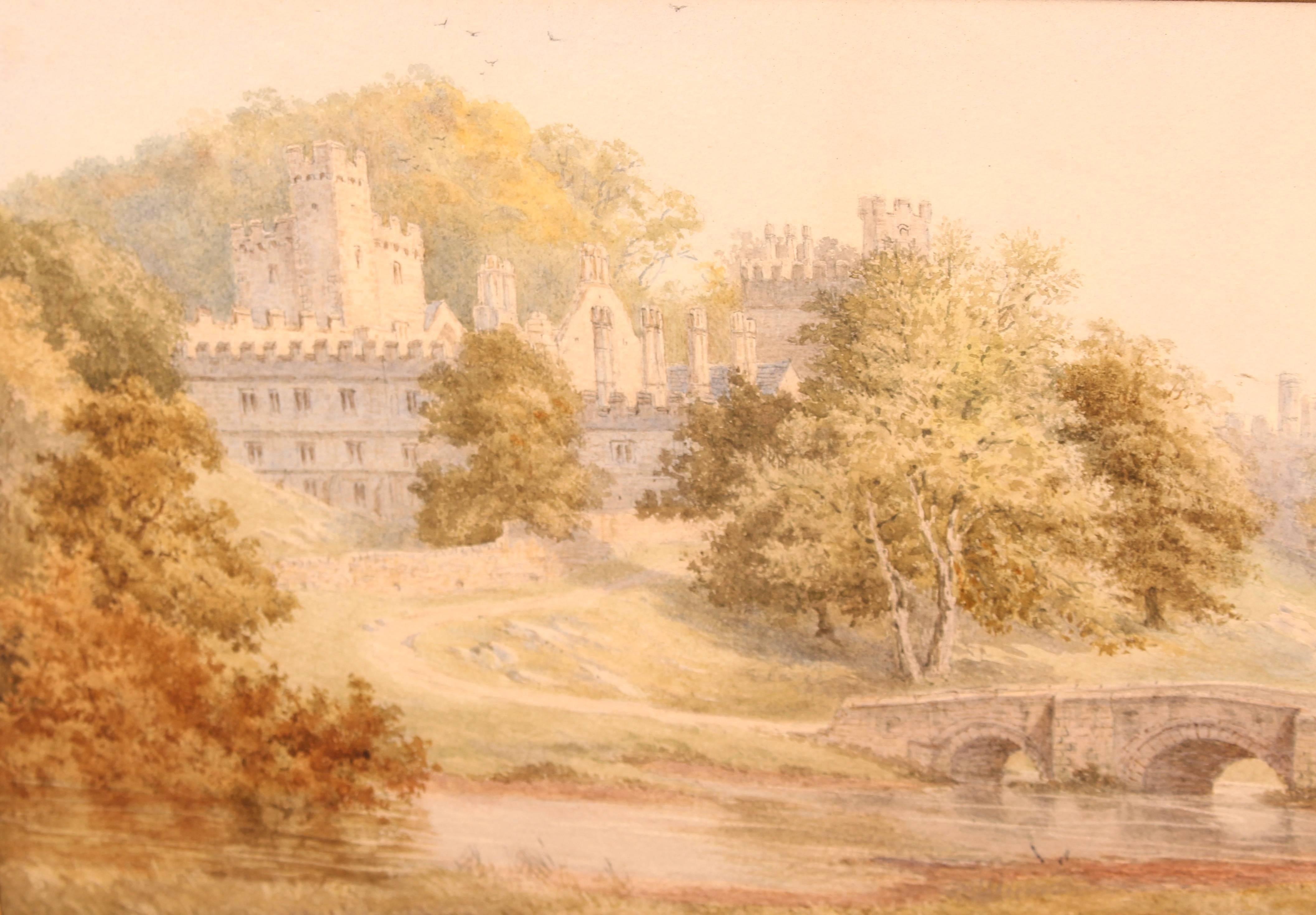 Watercolour Windsor Castle by Frederick Tully Lott For