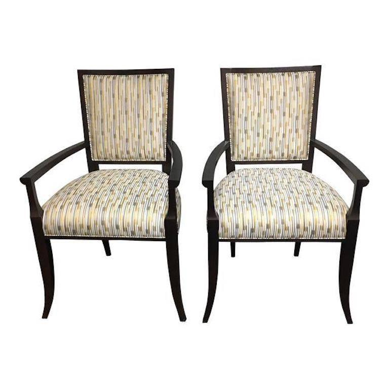 hickory chair co antique ladder back chairs uk pair of nicole armchairs at 1stdibs for sale