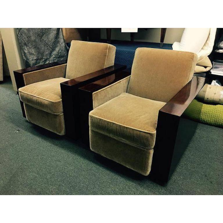 ralph lauren chair egg stand bunnings pair of modern metropolis club chairs at 1stdibs regency for sale
