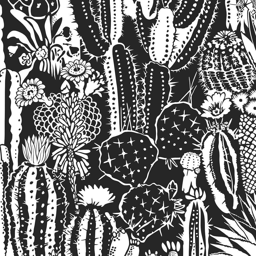 cactus spirit screen printed