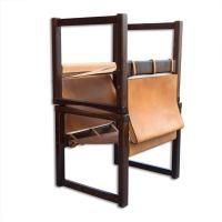 Living room set by Karin Mobring, Cognac Leather Safari ...