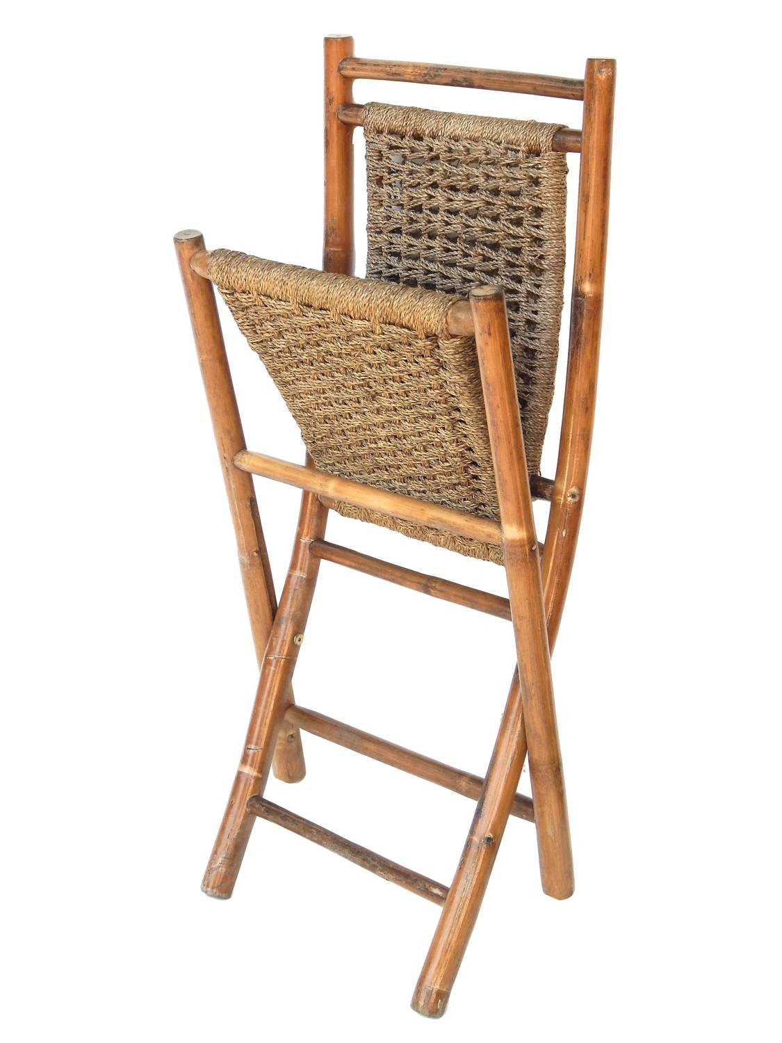 bamboo chairs for sale hanging chair cad block free folding and seagrass at 1stdibs