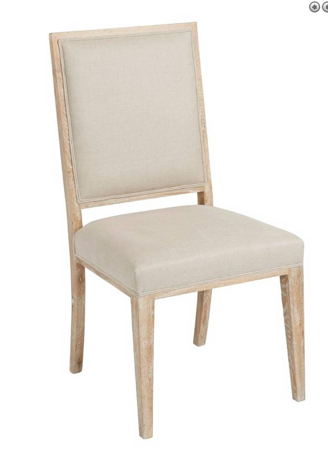White Upholstered Chair Upholstered White Wash Dining Chair For Sale At 1stdibs