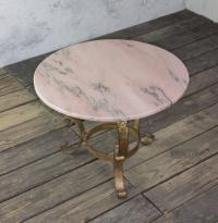 Small Round Coffee Table with Marble Top For Sale at 1stdibs
