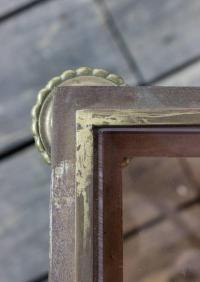 Brass and Steel Coffee Table with Rose Tinted Glass ...