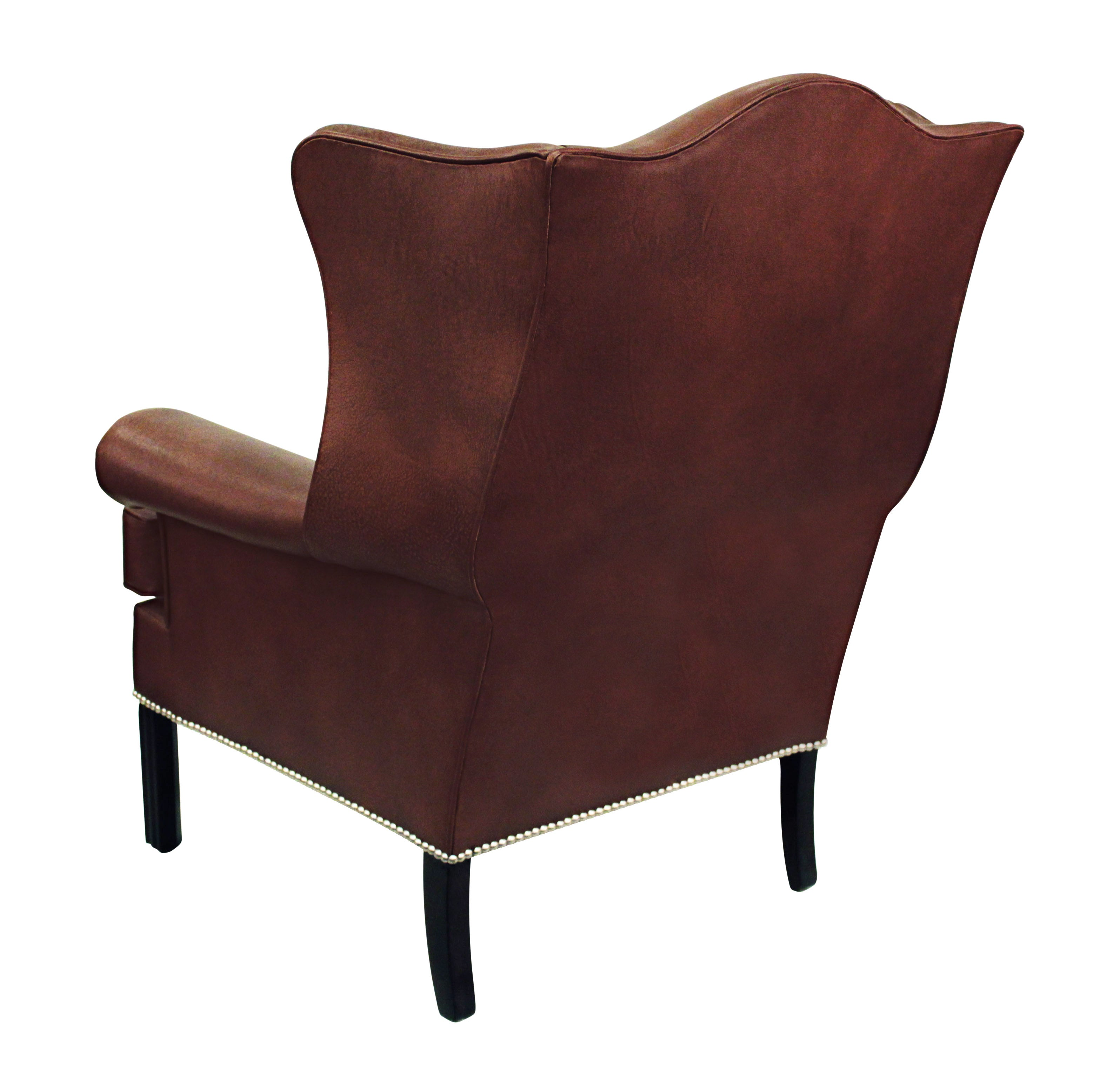 Small Club Chair Small Scale Leather Wing Chair By Edward Wormley For Dunbar