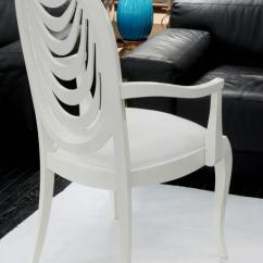 Orange Cafe Chairs Merits Power Chair Parts 2 Set Of Six Lacquered Dining With Draped Fabric Motif For Sale At 1stdibs