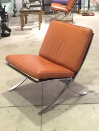 Pair of Mid-Century Modern Chairs with Steel Base For Sale ...