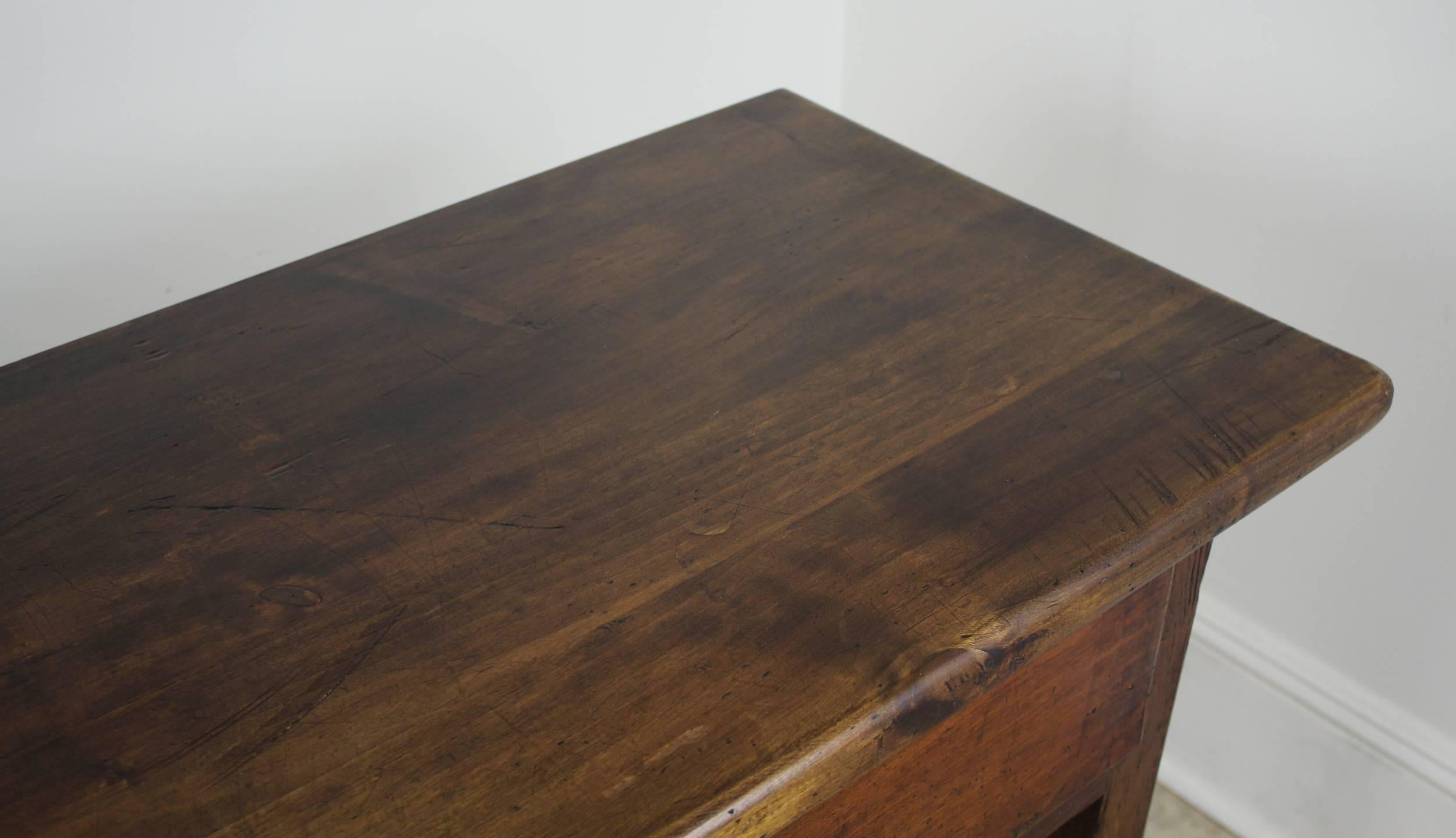 painted queen anne sofa table how to clean stains off suede antique poplar three-drawer server at 1stdibs