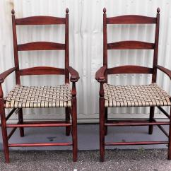 Shaker Ladder Back Chair Papasan Cushion Cover Pier One Set Of Four 19th Century Chairs At 1stdibs