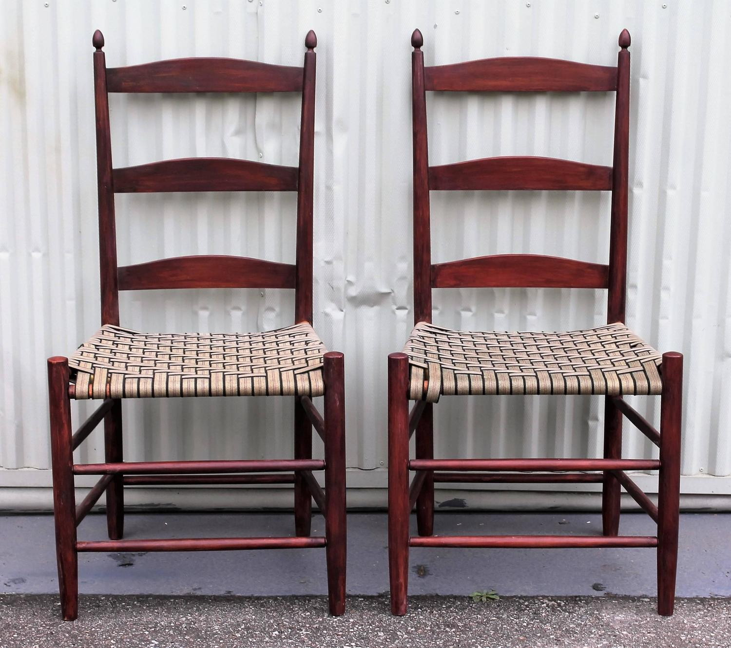 shaker ladder back chair remote control for massage set of four 19th century chairs at 1stdibs