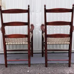 Shaker Ladder Back Chair Pottery Barn Baby Cover Set Of Four 19th Century Chairs At 1stdibs