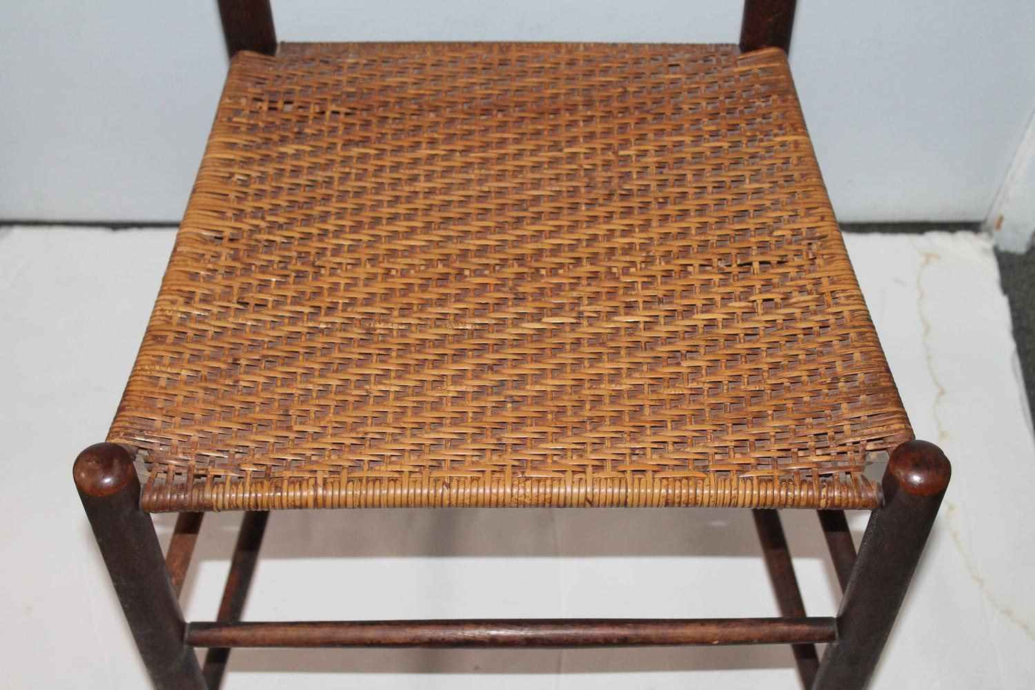 shaker ladder back chair leather club chairs for sale 19th century mt lebanon and tilter