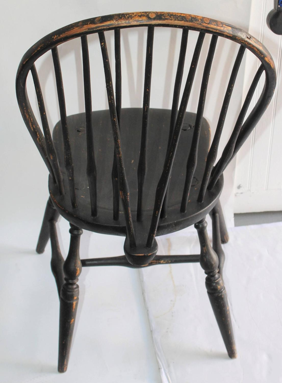 windsor back chairs for sale ingenuity high chair 3 in 1 manual set of four 18th century black painted brace