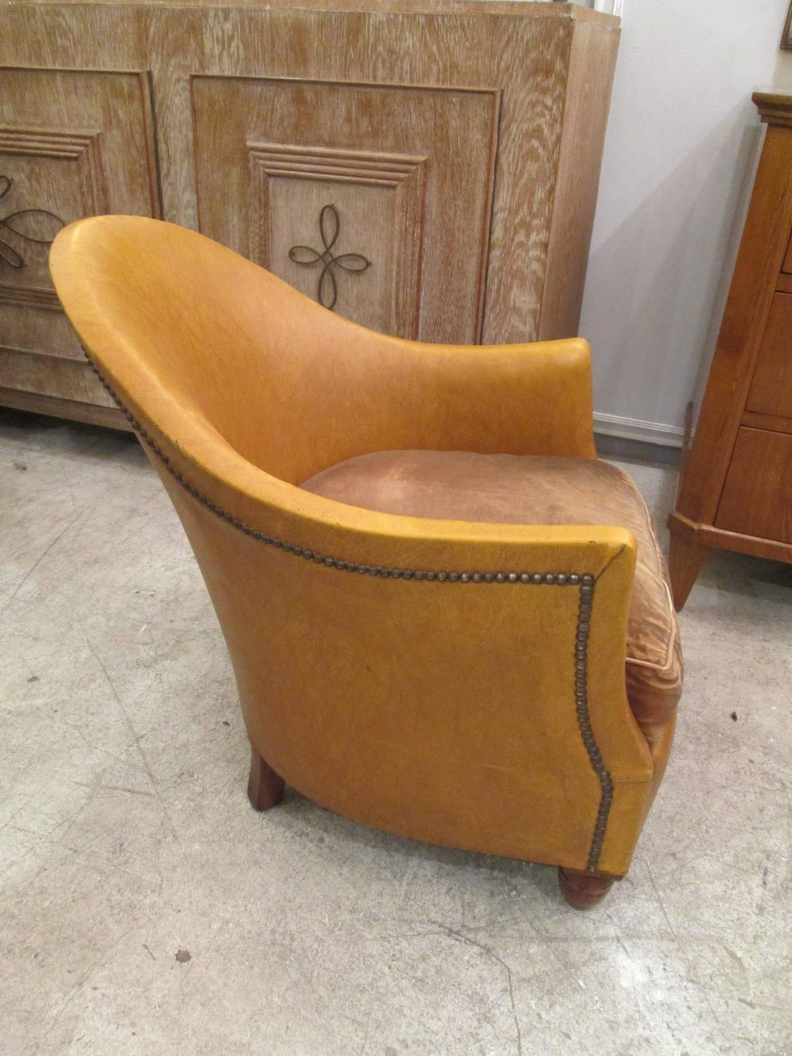 tub chair covers for sale safari high pair of leather upholstered chairs at 1stdibs