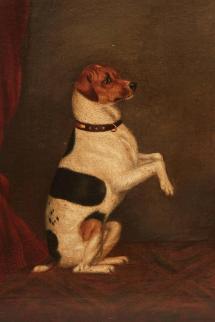 Dog Folk Art Painting 1stdibs