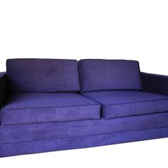 Purple Sofas For Sale Navy Blue Leather Reclining Sofa Mid Century Modern Velvet Settee By Charles