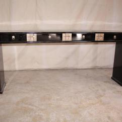 Black Lacquer Sofa Table Shabby Chic Covers Fine Console For Sale At 1stdibs