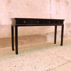 Black Lacquer Sofa Table Cameron Square Arm Fine Console With Drawers For Sale At