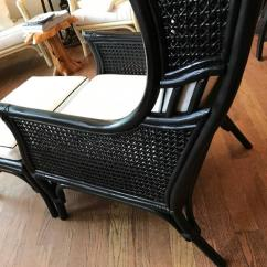 Ficks Reed Chair Wheelchair Rental Las Vegas Vintage And Bamboo Cane Armchair Ottoman, 1960s For Sale At 1stdibs