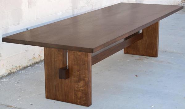 Black Walnut Trestle Table 1stdibs