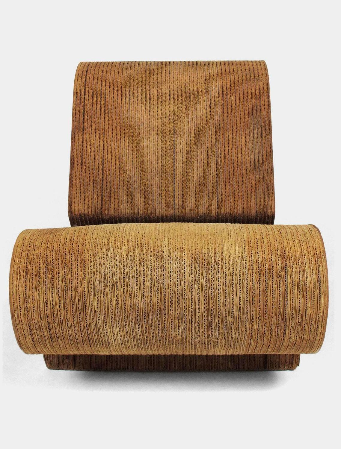 frank gehry cardboard chairs antique club quoteasy edges quot contour chair for sale at 1stdibs
