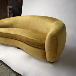 Century Furniture Sofa Quality Extra Long Brown Leather L'ours Polaire / Polar Bear After Jean Royére, Made ...