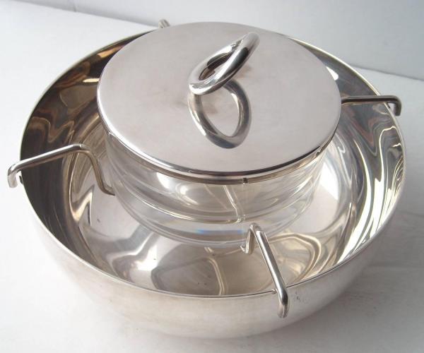 Caviar Silver Serving Bowls