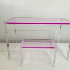 Acrylic Desk Chair With Cushion Red And White Barber Whimsical Pink Clear Bench At 1stdibs