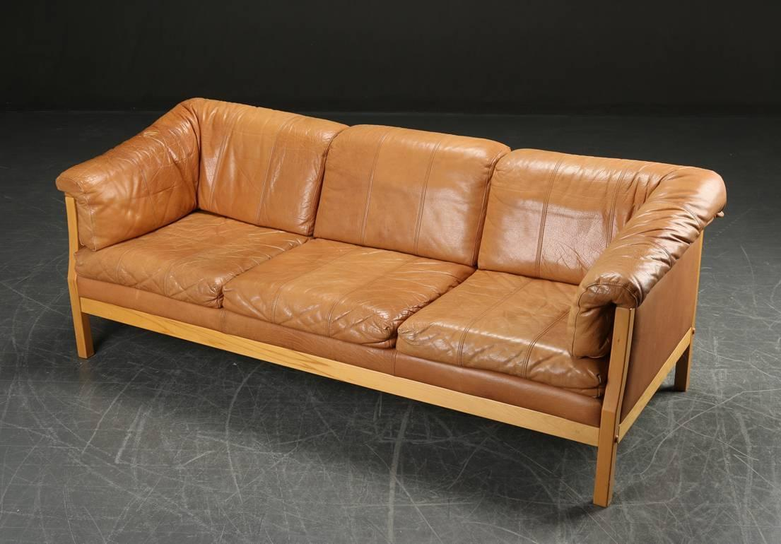 caramel colored leather sofas repair patches for sofa danish modern at 1stdibs