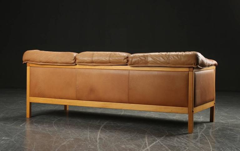 caramel colored leather sofas sefton manual 3 seater recliner sofa black danish modern at 1stdibs