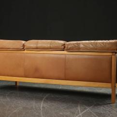 Caramel Colored Leather Sofas Simmons Sleeper Danish Modern Sofa At 1stdibs