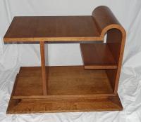 Mid-Century Multi-Level Walnut Side Table, France at 1stdibs