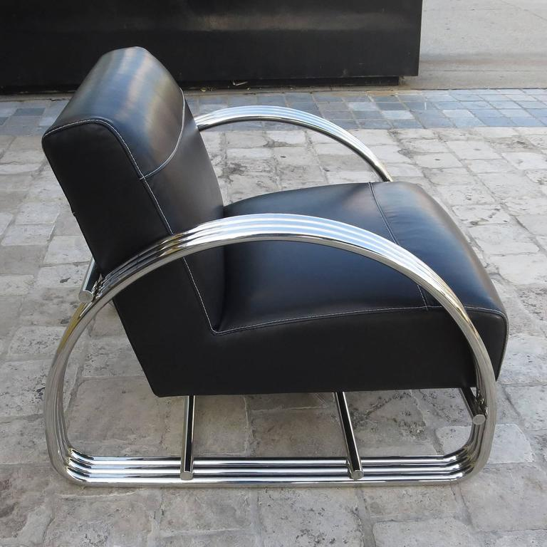 black leather club chair and ottoman big tall office 500 lbs capacity ralph lauren hudson street lounge in new at 1stdibs