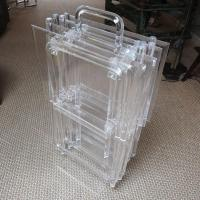 Mid-Century Lucite Folding Tables, Set of Four at 1stdibs